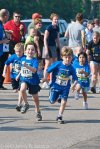 Henry (far left) in the Fun Run