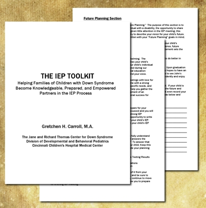 IEP Toolkit now available for families of students with Down syndrome!
