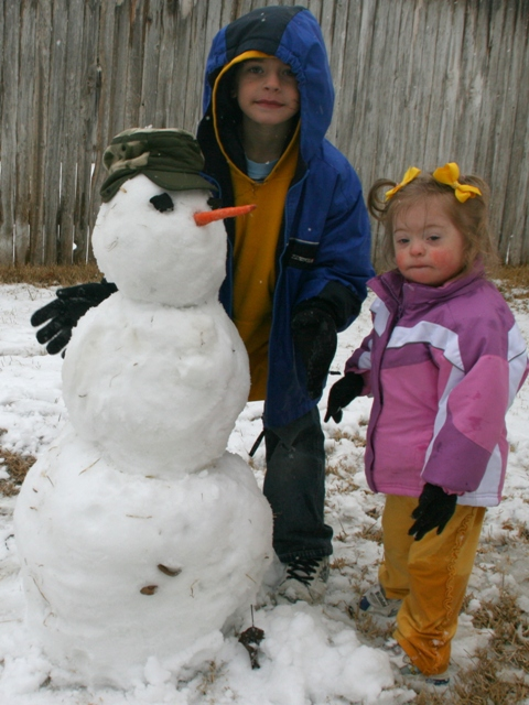 Therapy Thursday: Snowy day language learning for children (and their sibs) with Down syndrome